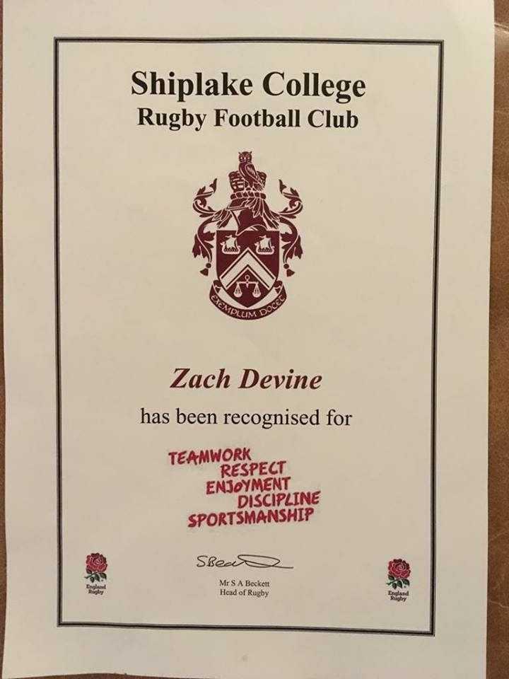 Zach Shiplake Award