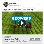 We are currently running a test Facebook video campaign for a business launching an early warning system enabling growers to use less pesticides...this is our campaign social media video and social media campaign landing page